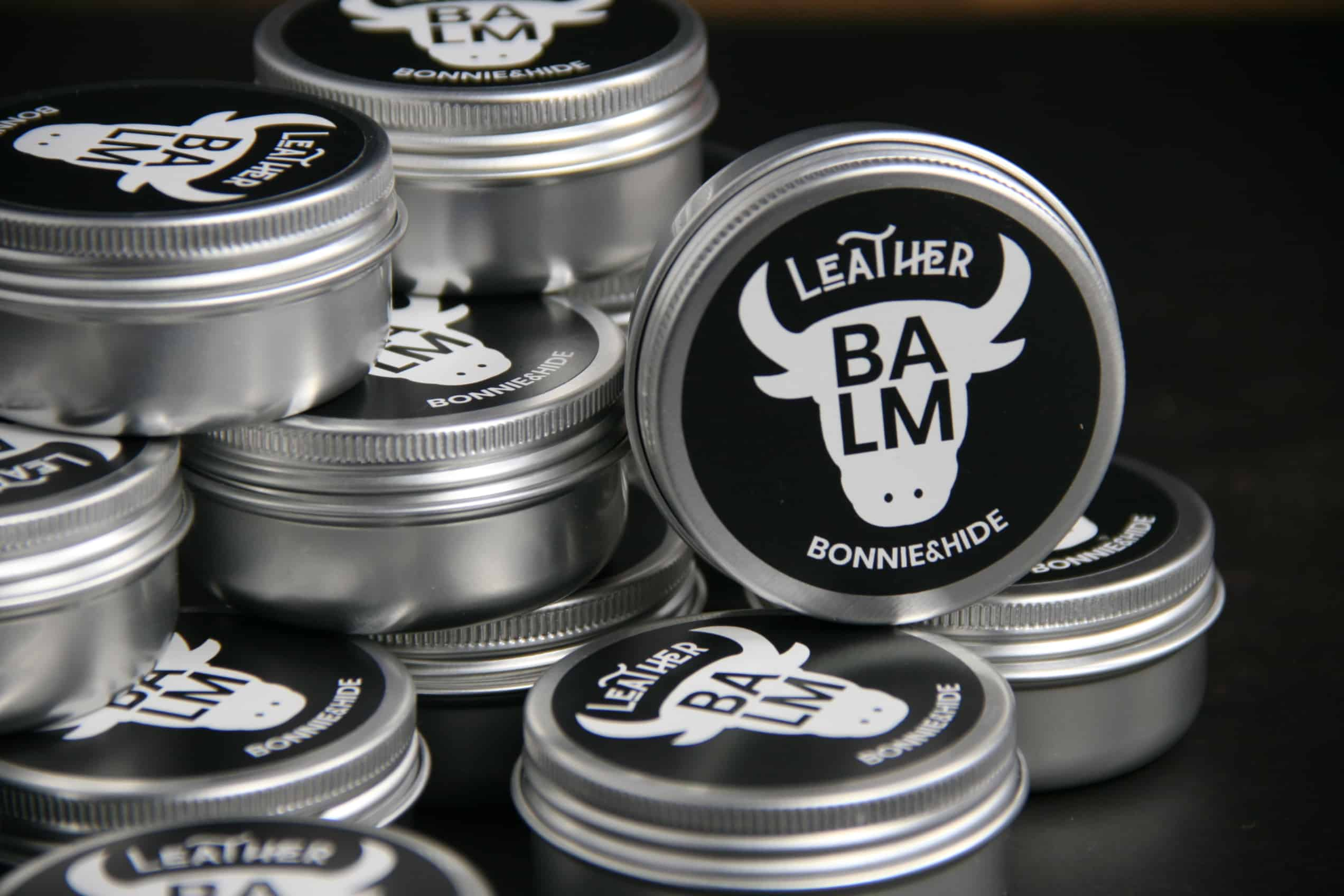 leather balm container