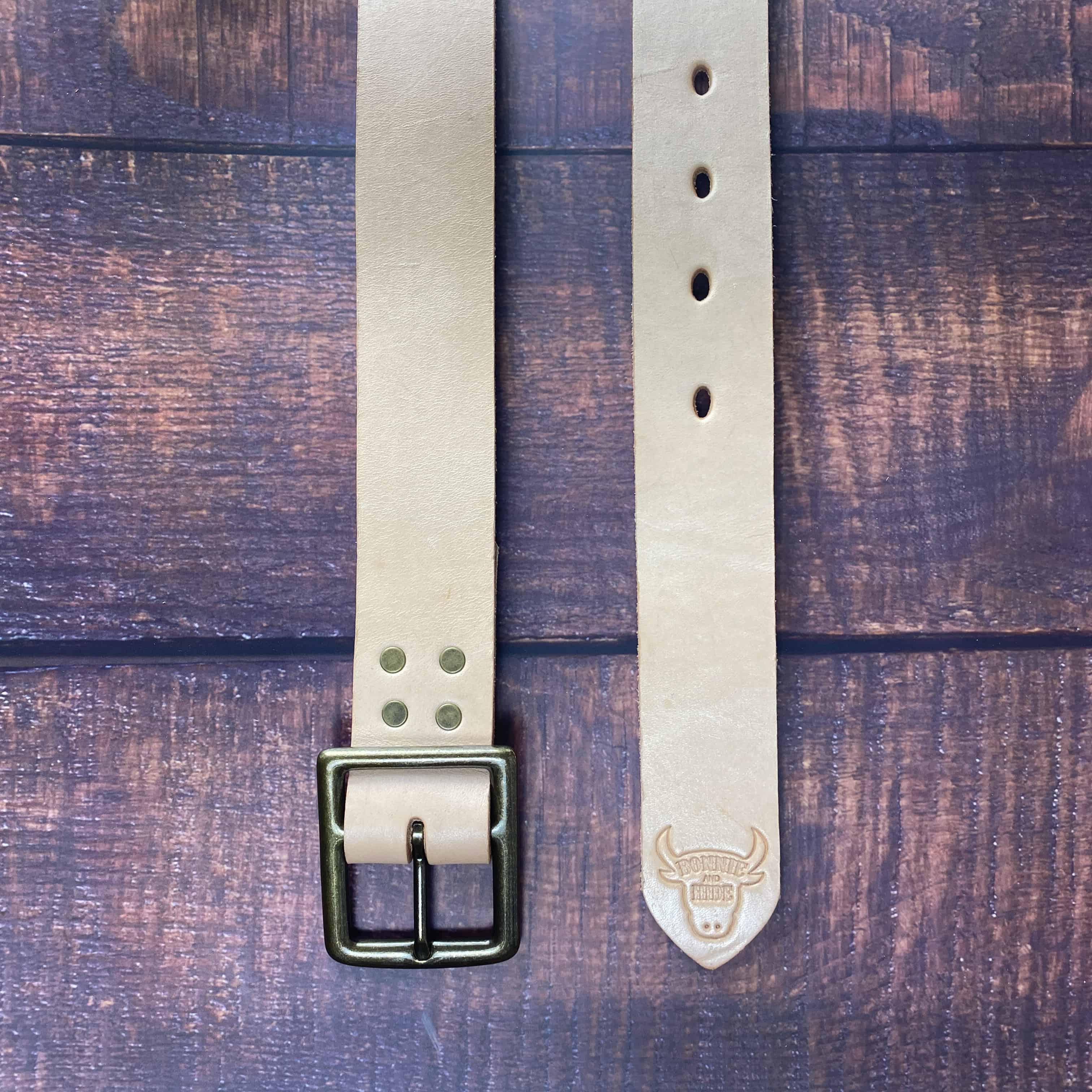 belt natural antique buckle