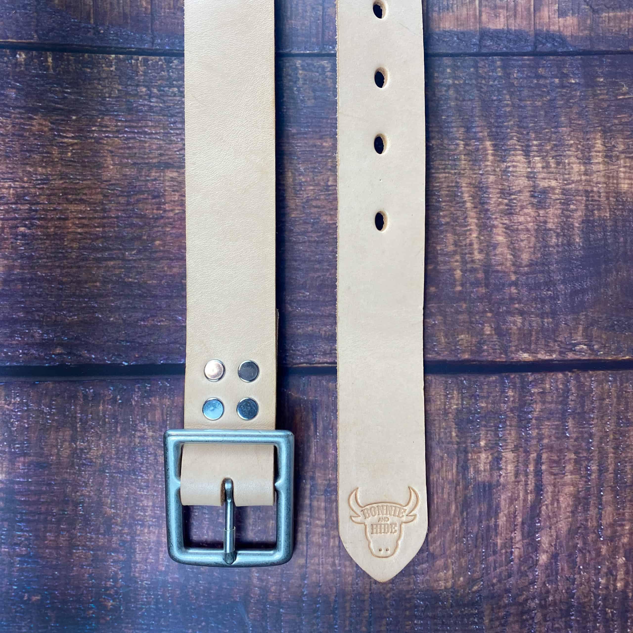 natural belt on wood background