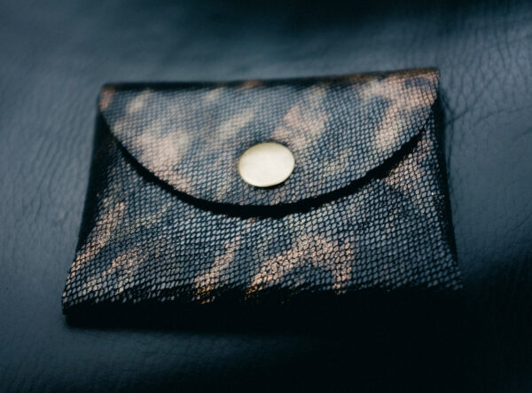 leather coin purse gold button